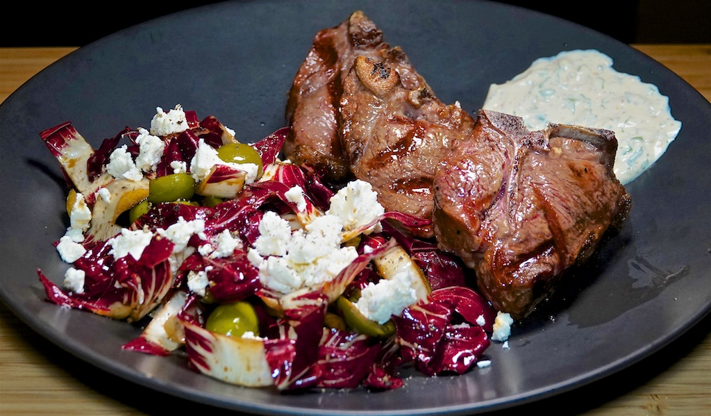 Sep 27: Popeye's Fried Chicken; Lamb Loin Chops with Radicchio Salad