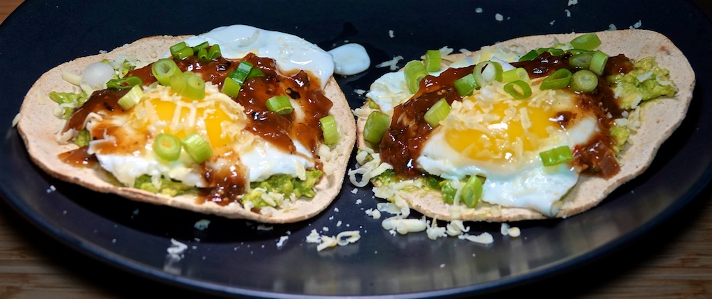 Oct 1: Double Double; Tostadas with Avocado and Fried Egg