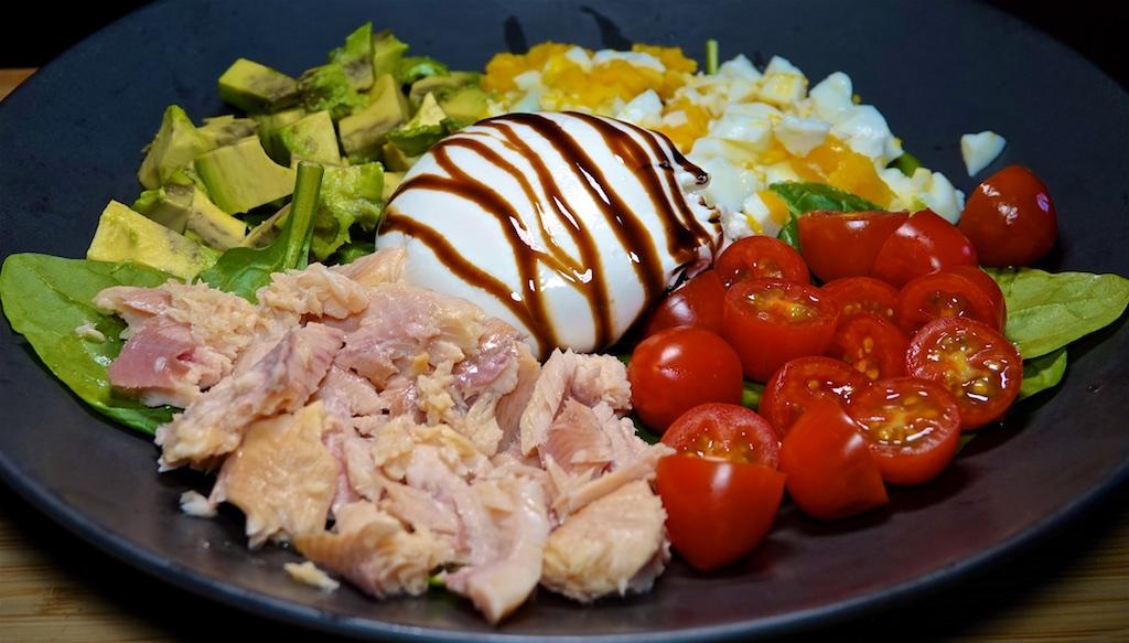Oct 12: Tuna & Swiss, Ham, Peanut Butter & Swiss; Smoked Trout Cobb Salad