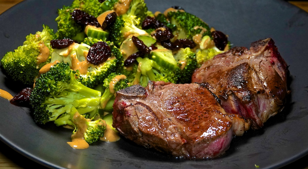 Oct 23: Timberline Grill; Lamb Chops with Broccoli Crunch Salad