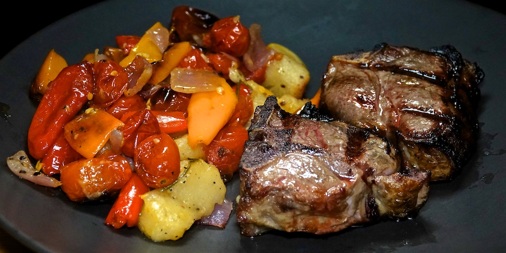 Nov 27: The Country Deli; Lamb Loin Chops with Crispy Sheet Pan Gnocchi and Veggies