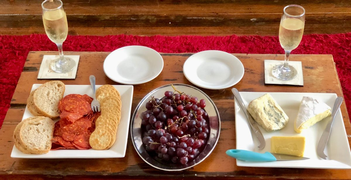 Dec 30: Taste of Tassie; Cheeses, Salami, Grapes and Bubbly