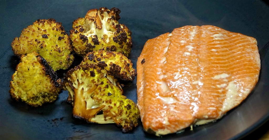Feb 8: Turkey, Swiss & Sun Dried Tomato Paste, Sweet & Spicy Tuna with Swiss; Smoked Salmon with Pepper Roasted Cauliflower