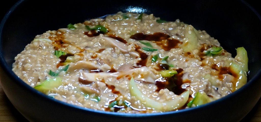 Feb 25: Wild Mushroom & Farro Soup; Mushroom and Bok Choy Savory Oatmeal