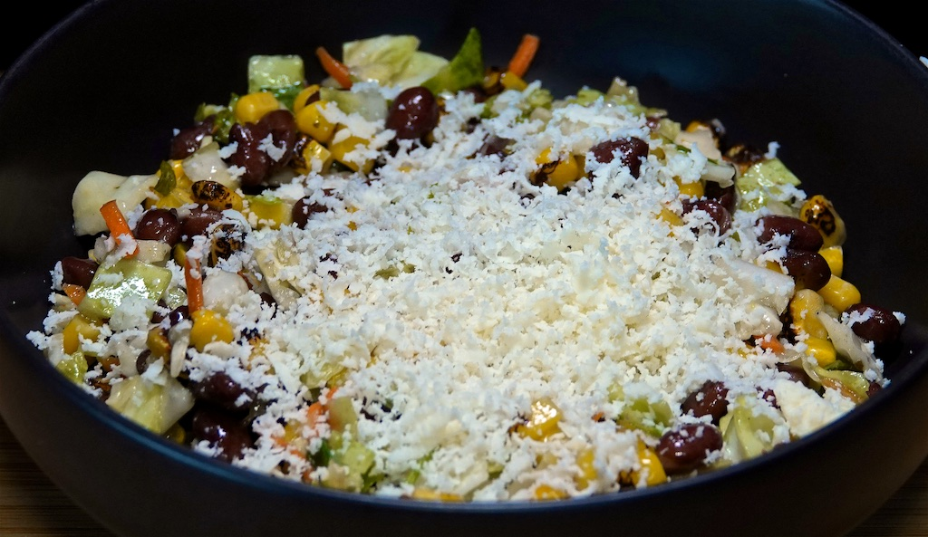 Jun 10: Egg Salad Sandwich; Southwestern Salad with Corn and Black Beans topped with Cotija