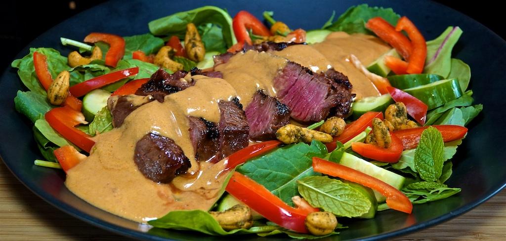 Jun 29: Char Siu Fried Rice; Thai Steak Salad