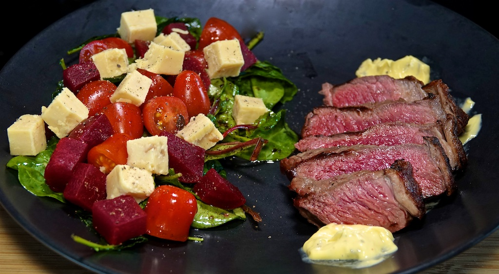 Jul 21: Lamb Yeros; New York Strip Steak and Béarnaise Sauce with Australian Inspired Salad