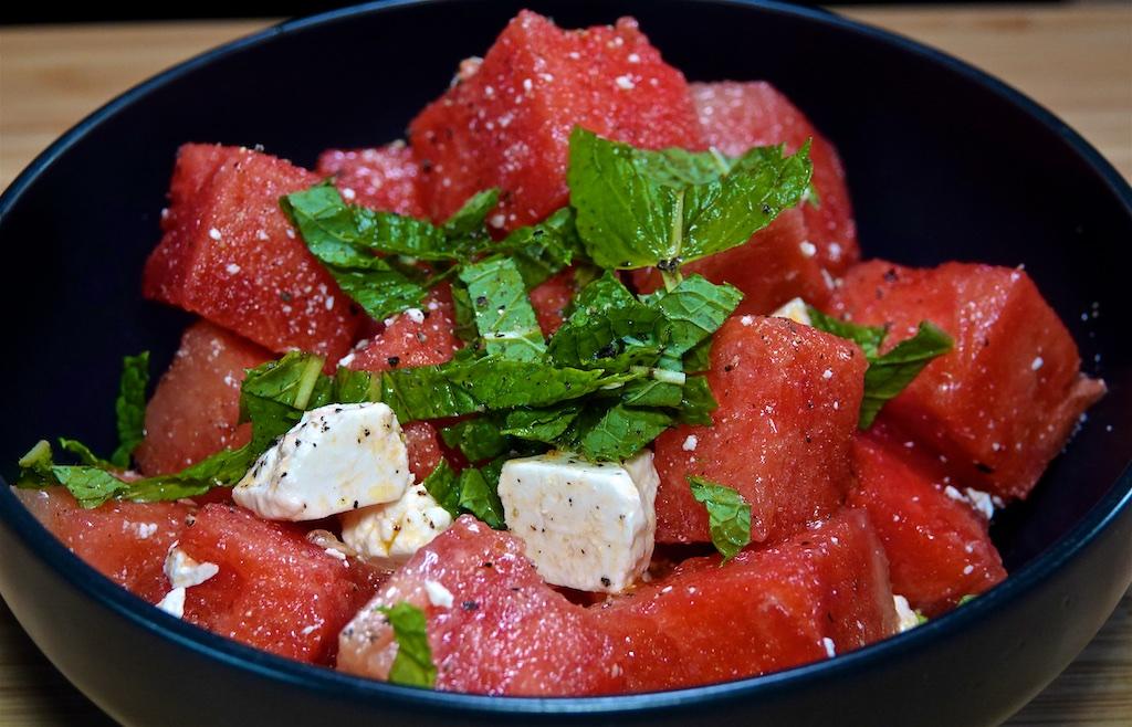 Jul 29: Turkey Breast, Sun-dried Tomato & Swiss, Eggplant & Peanut Butter; Watermelon Salad