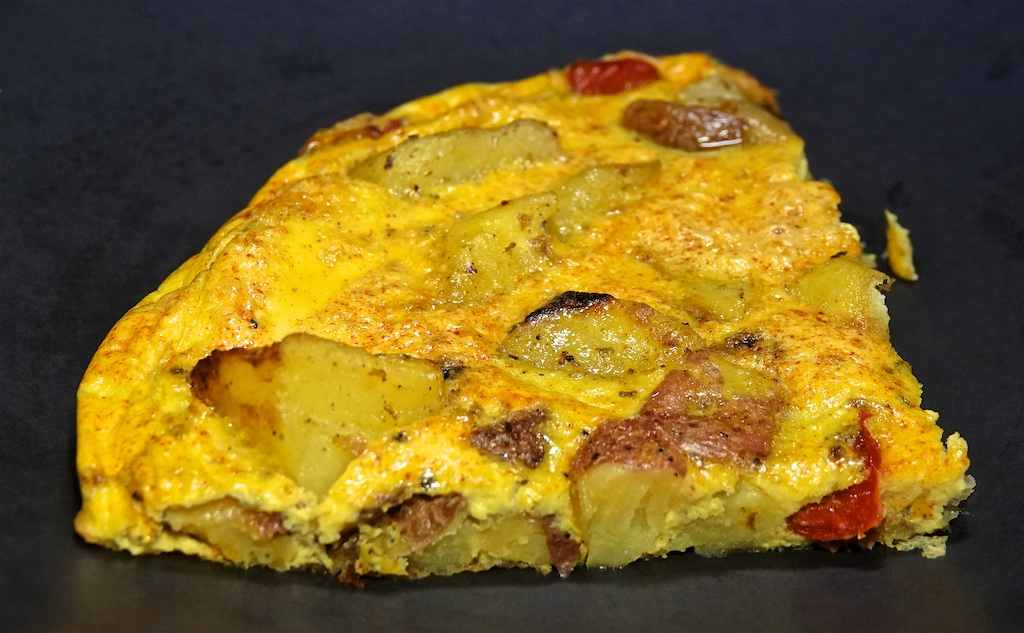 Aug 6: Sardine, Avocado & Sprouts, Egg Salad; Roasted Potato with Peppers and Onions Frittata