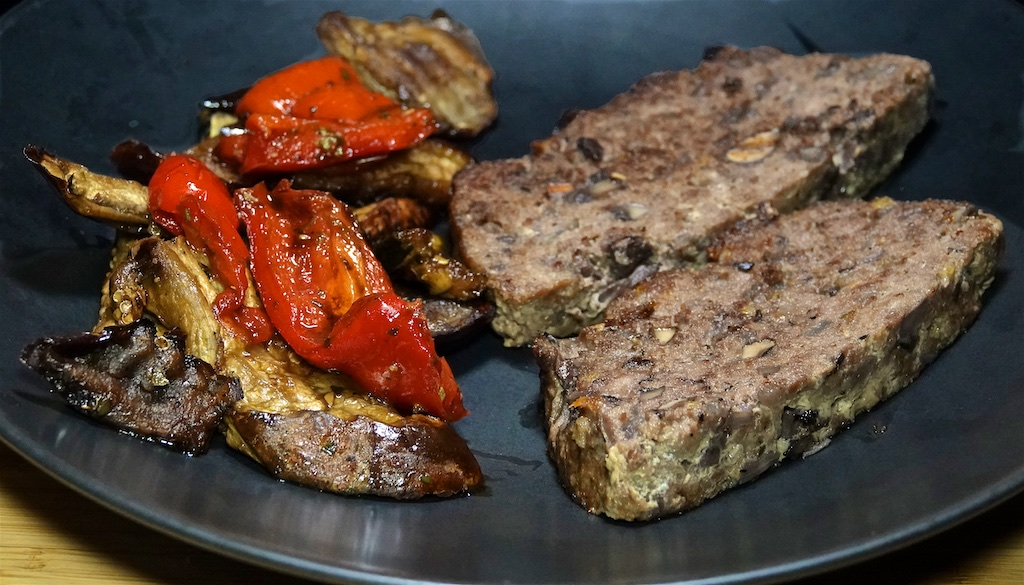 Aug 22: Gordon Biersch; Red Wine Mushroom Meatloaf with Balsamic Roasted Vegetable