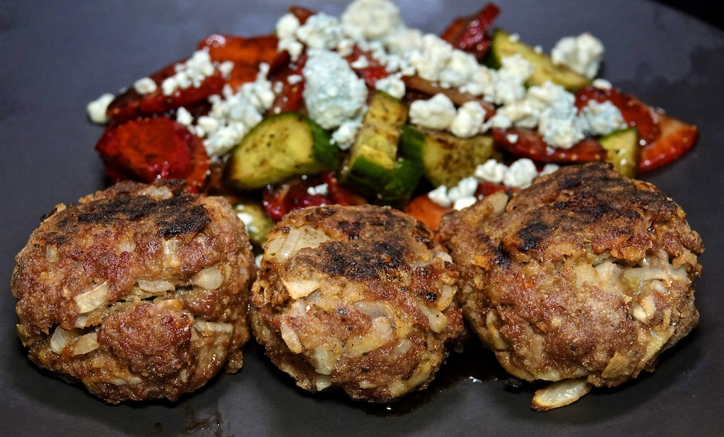 Sep 1: Heuvos Rancheros; Rissoles with Cucumber, Strawberry and Blue Cheese Salad