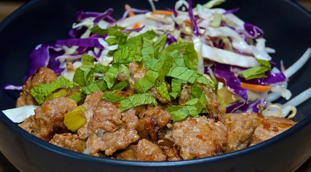 Sep 3: Rissole & Cheddar in a Panini Roll; Vietnamese Caramelized Pork Bowls on Bean Sprouts