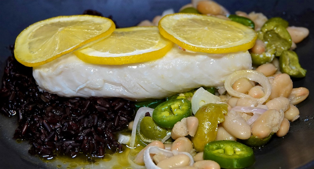 Sep 6: Sweet & Spicy Tuna, Egg Salad & Sprouts; Roast Fish with Cannellini Beans and Green Olives