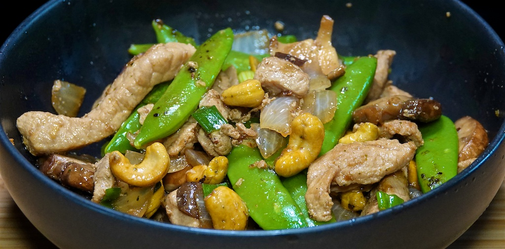 Oct 2: BBQ Chicken with Kumato on Baguette; Cashew Chicken