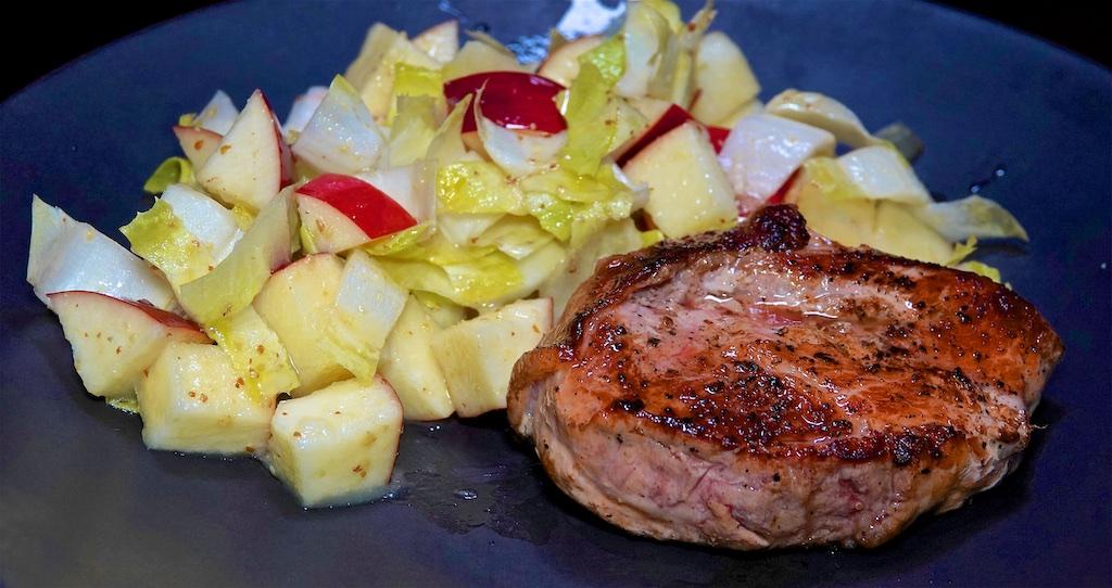Nov 2: Bacon, Lettuce & Tomato Sandwich; Smoked Pork Chops with Apple Endive Salad