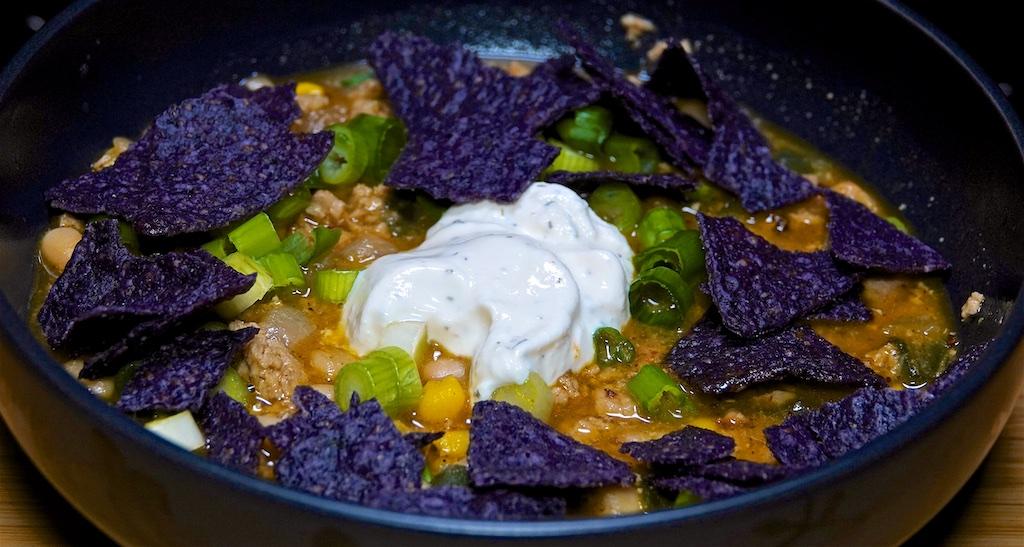 Nov 13: Guacamole & Tuna; Tomato & Garlic Spread; White Chili (Pork)