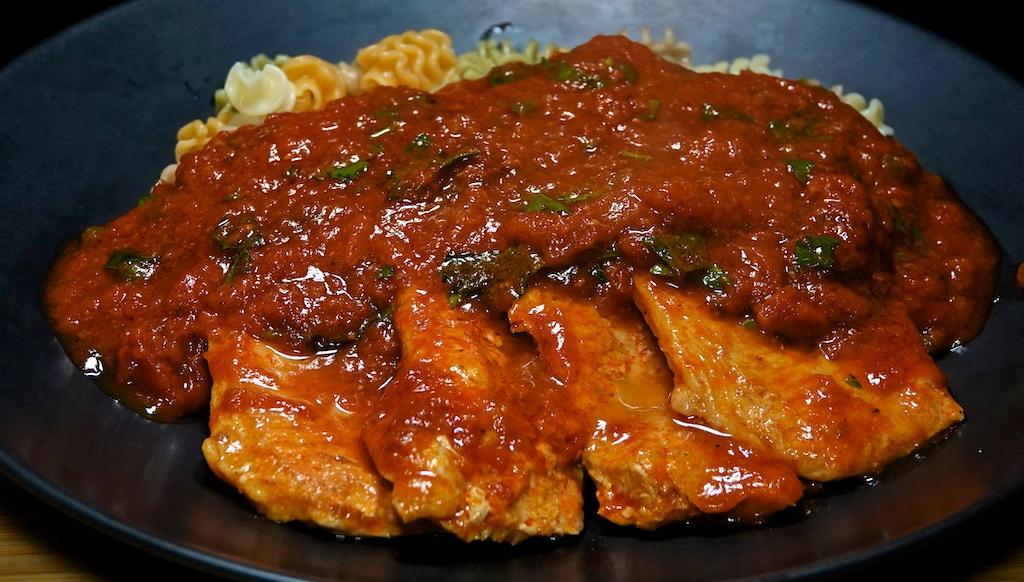 Nov 14: Swedish Meat Ball Dinner; Pork Cutlets in Marinara Sauce