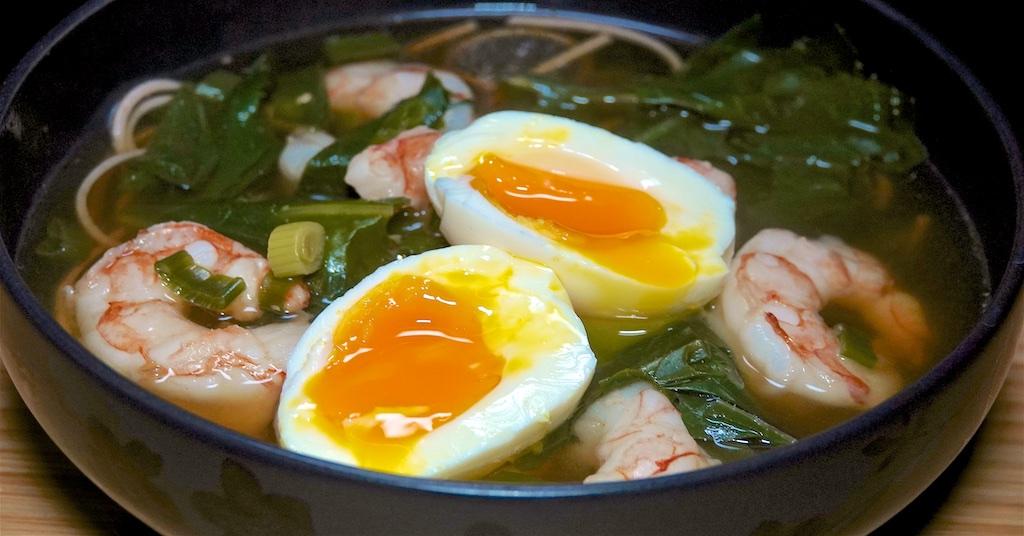 Nov 15: Afghani Pita; Soba Soup with Shrimp and Greens