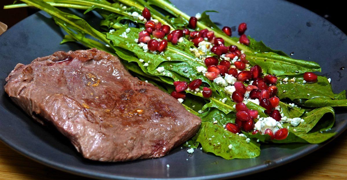 Nov 16: Supermarket Sushi; Flat Iron Steak/Bone in Pork Chop with Dandelion Green Salad