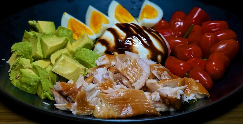 Jan 24: Heuvos Rancheros; Smoked Trout and Burrata 'Cobb' Salad