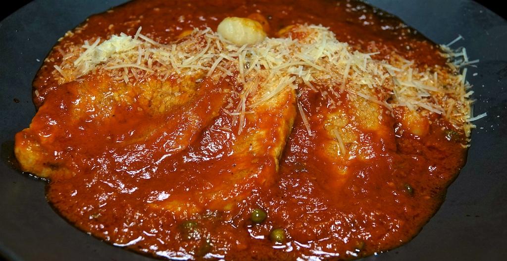 Jan 30: Meatloaf, Kumato & Quesadilla Cheese Panini Roll; Pork Sirloin Cutlets in Marinara Sauce with Gnocchi