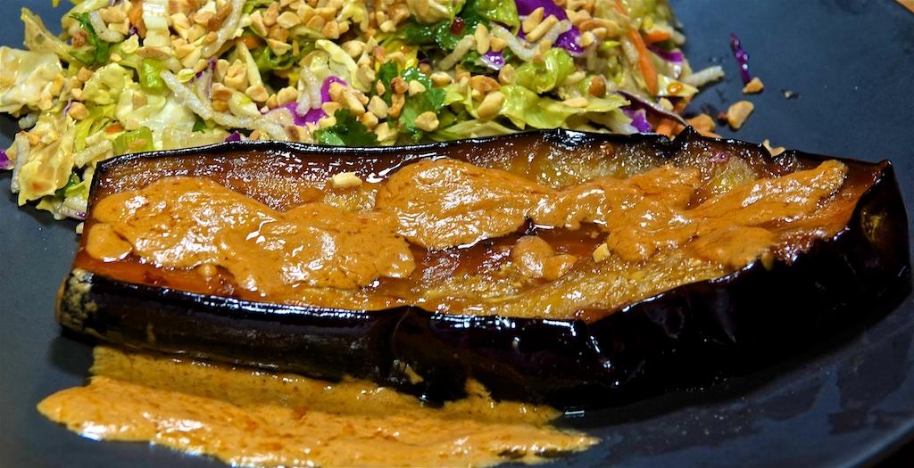 Feb 20: Smoked Turkey Breast & Swiss, Lemon Pepper Tuna & Swiss; Grilled Eggplant with Peanut Sauce and Peanut Crispy Noodle Salad