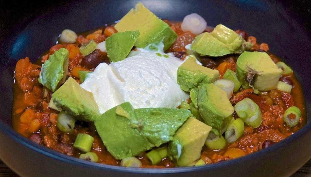 Mar 30: Egg Salad & Sprouts, Smoked Turkey, Kumato & Swiss; Soy Chorizo Chili