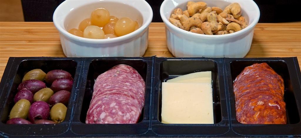 """Mar 31: Avocado & Turkey, Hummus & Sprouts; Spanish """"Tapas"""" Tray"""
