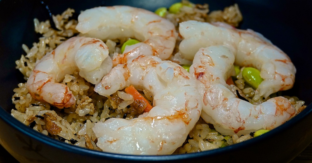 May 8: BBQ Chicken Breast with Kumato & Garlic Spread Sandwich; Argentinean Shrimp on Japanese Fried Rice