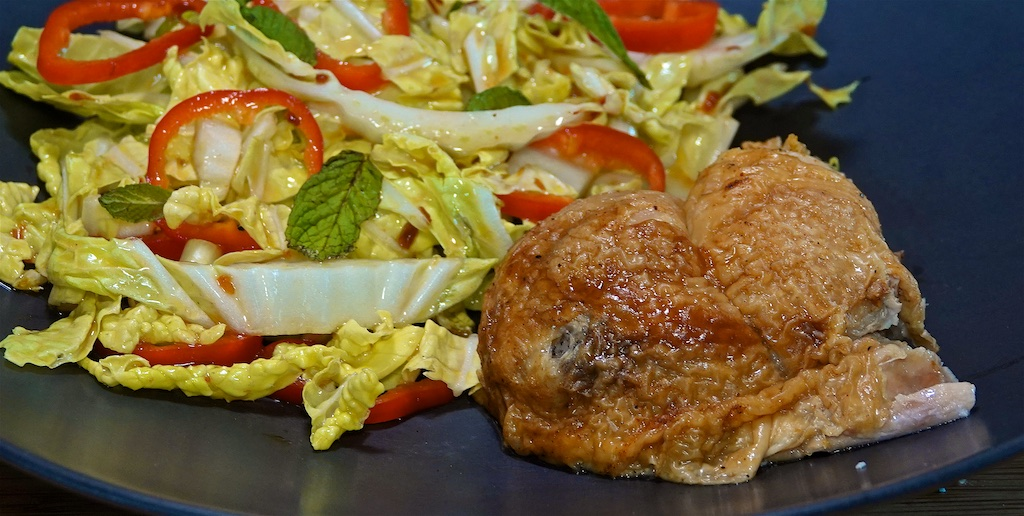 May 9: Caramelized Lamb Roll; BBQ Chicken Leg with Vietnamese Salad