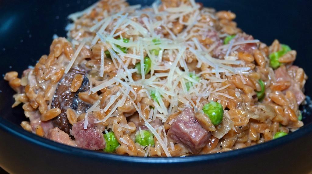 May 12: Ham, Swiss & Kumato, Sweet & Spicy Tuna & Swiss; Creamy Ham Mushroom Orzo