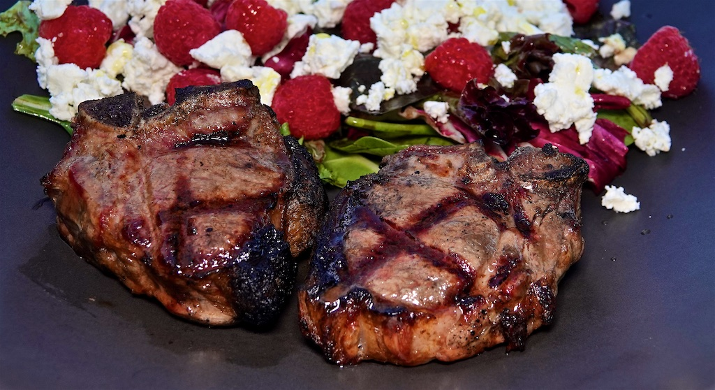 May 21: Cheddar & Kumato, Avocado & Lemon Pepper Tuna; Lamb Loin Chops with Raspberry Feta Salad