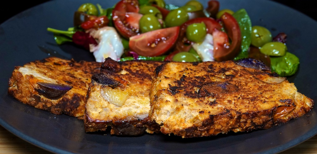 Jun 2: Supermarket Sushi; Spanish Style Meatloaf with Olive and Tomato Salad