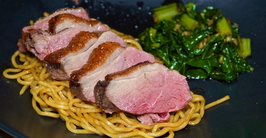 Jun 18: Ham, Kumato & Swiss, Tuna, Capers & Swiss; Duck Breast with Garlic Chard and Yakisoba Noodles