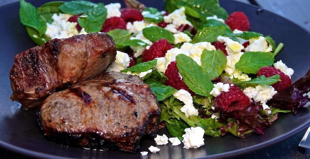 Jun 21: BLTA; Lamb Loin Chops with Feta and Raspberry Salad