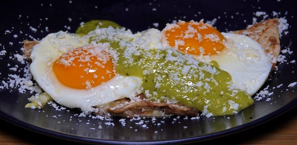 Jul 27: Ham & Coleslaw, Egg Salad & Sprouts; Fried Egg on a Quesadilla