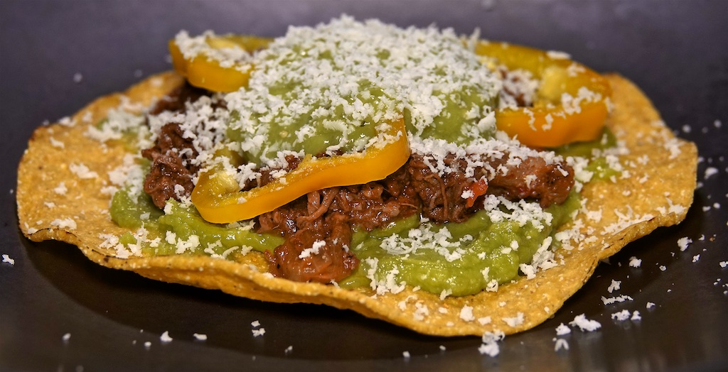 Aug 3: BLT on Homemade Sourdough; Shredded Beef Tostadas with Bell Peppers and Guacamole