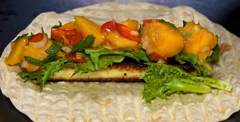 Aug 4: Bahn Mi; Fried Halloumi and Mango Salsa Tacos