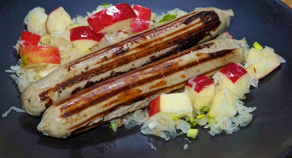 Aug 6: Ham, Swiss & Semi Dried Tomato, Tuna & Swiss; Beer Bratwurst and Apple Sauerkraut Salad