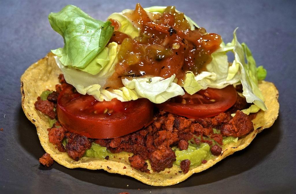 Sep 21: BLT on Homemade Sourdough; Soy Chorizo Tostadas