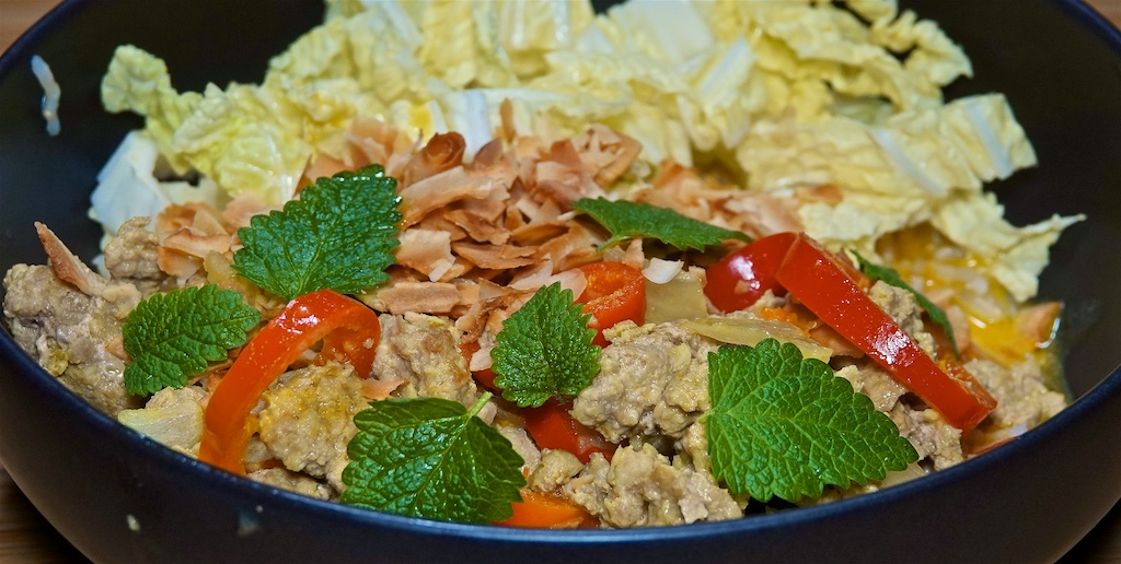 Oct 11: Eggy Tostadas; Turmeric-Coconut Curry with Pork and Brown Rice