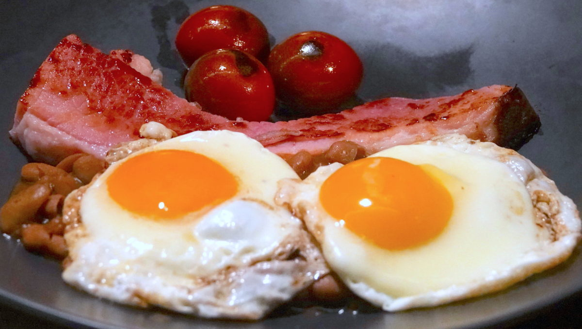 Jan 26: Chorizo, Bell Pepper & Smokey Cheddar; Baked Ham, Baked Beans and Fried Eggs