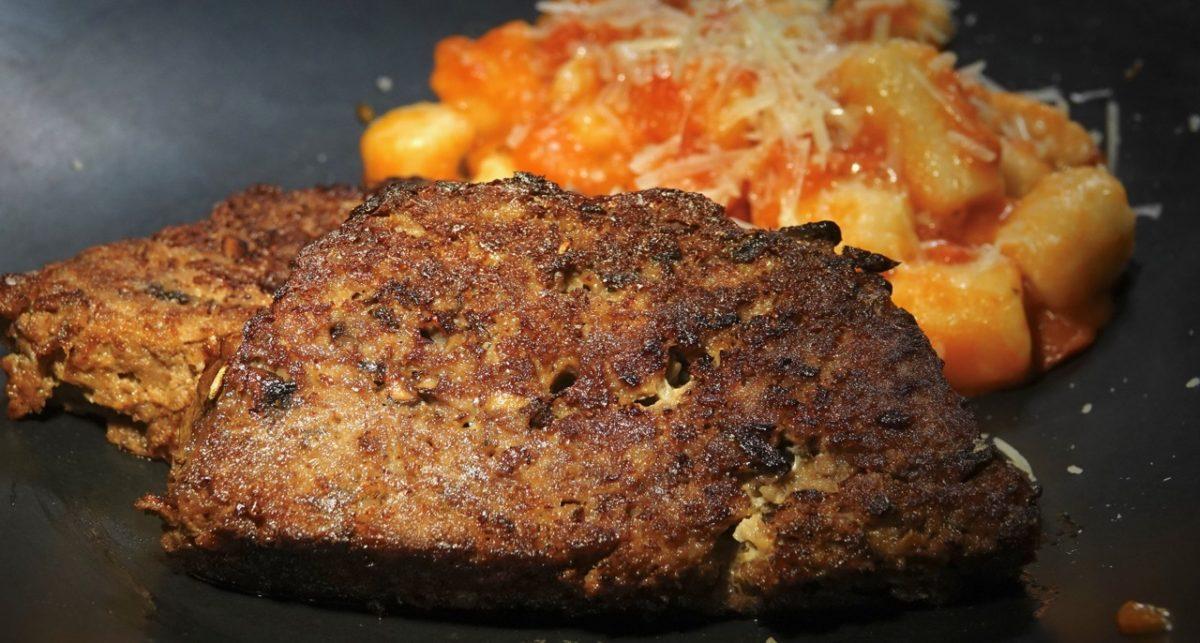 Feb 24: Skewers Kebabs; Red Wine and Mushroom Meatloaf with Cauliflower Gnocchi in a Marinara Sauce