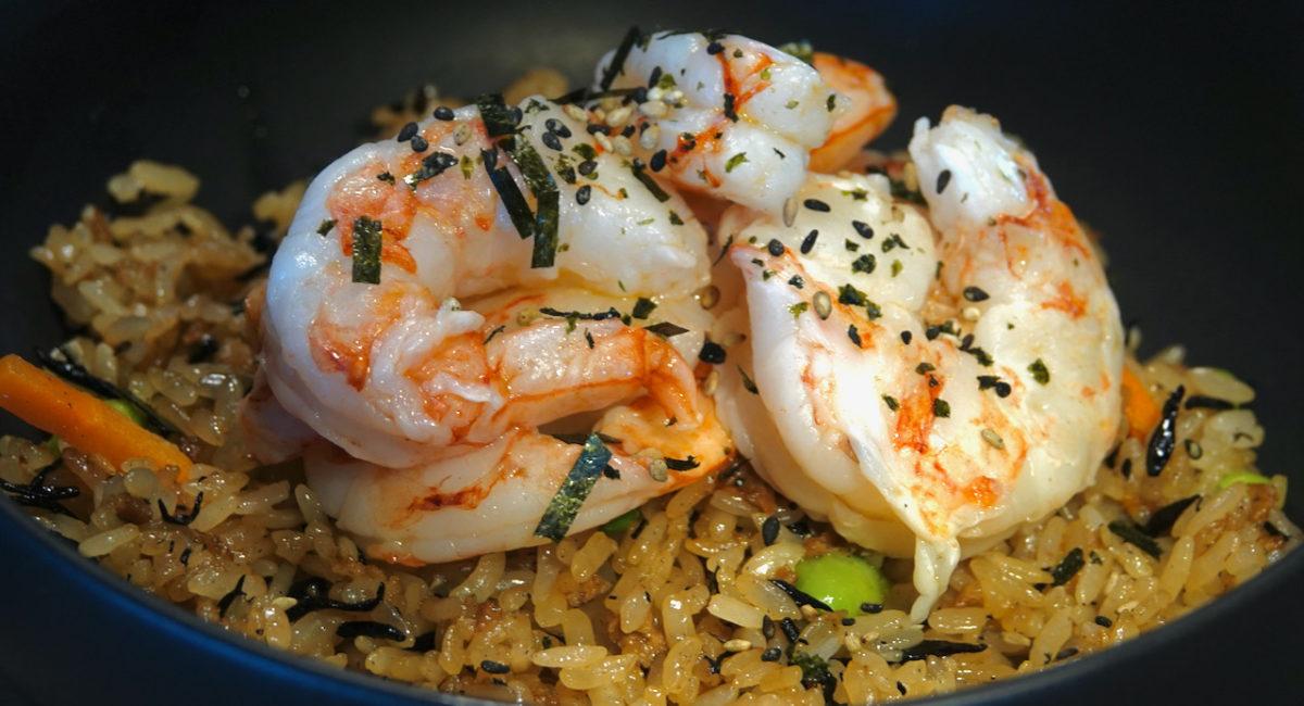 Mar 23: Ham & Coleslaw; Sous Vide Shrimp on Japanese Style Fried Rice