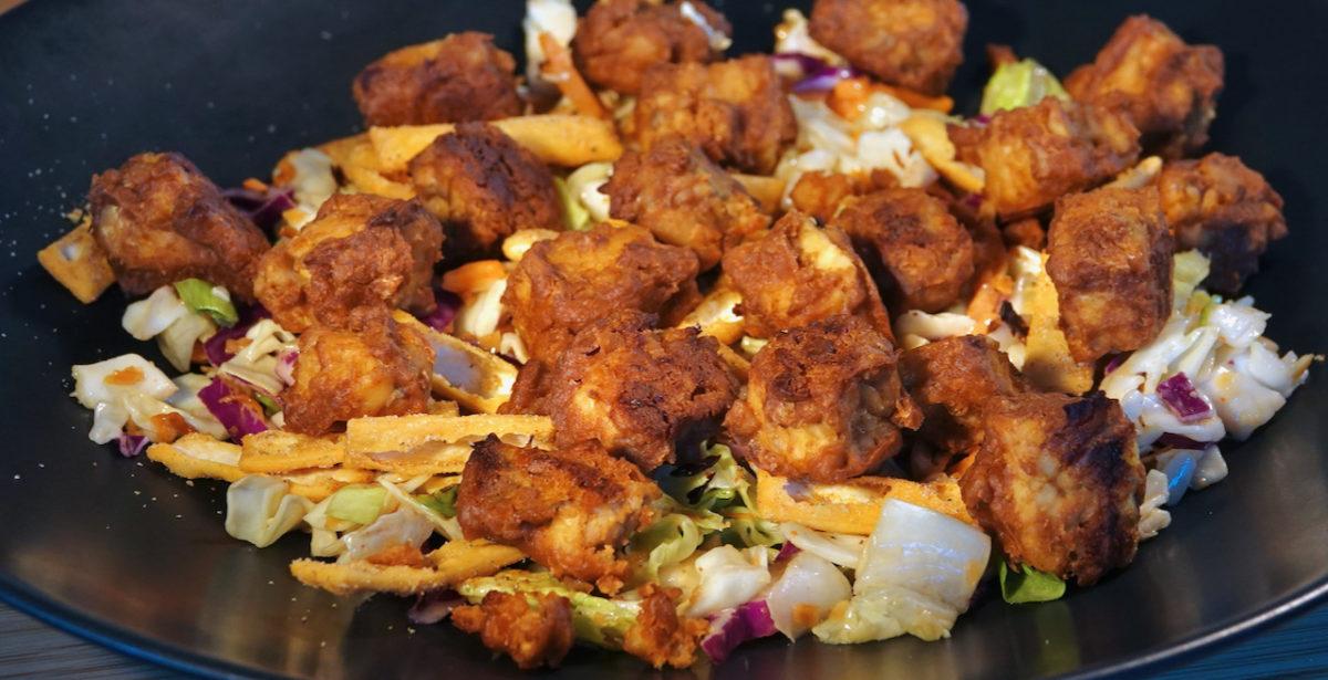 Mar 29: Crispbread Ploughman's Lunch; Marinated Peanut Baked Tempe with Thai Salad