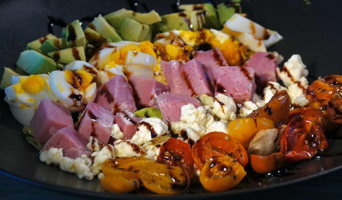 """Apr 10: Lamb Gyro; Ham """"Cobb"""" Salad"""