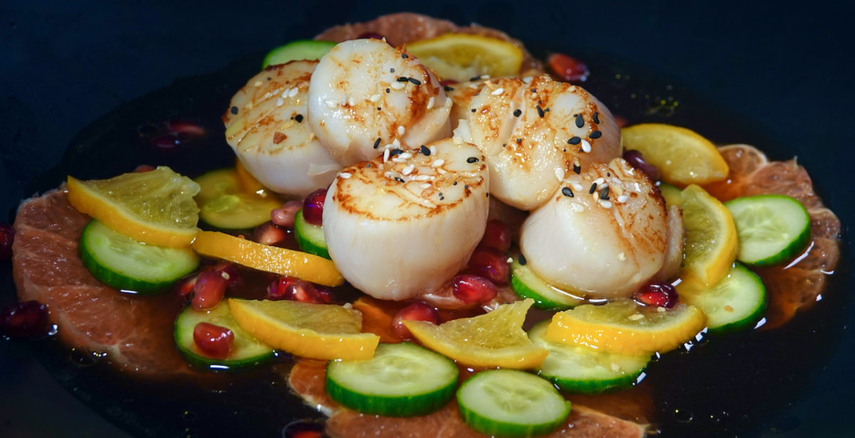 Apr 24: Bahn Mi; Seared Scallops with Pomegranate and Meyer Lemon