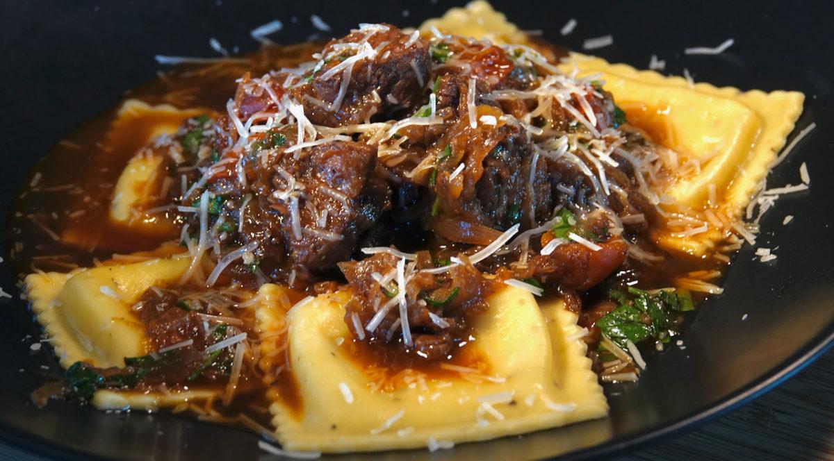 May 9: Nashville Hot Chicken Sandwich; Meaty Neapolitan Ragu with Feta Ravioli