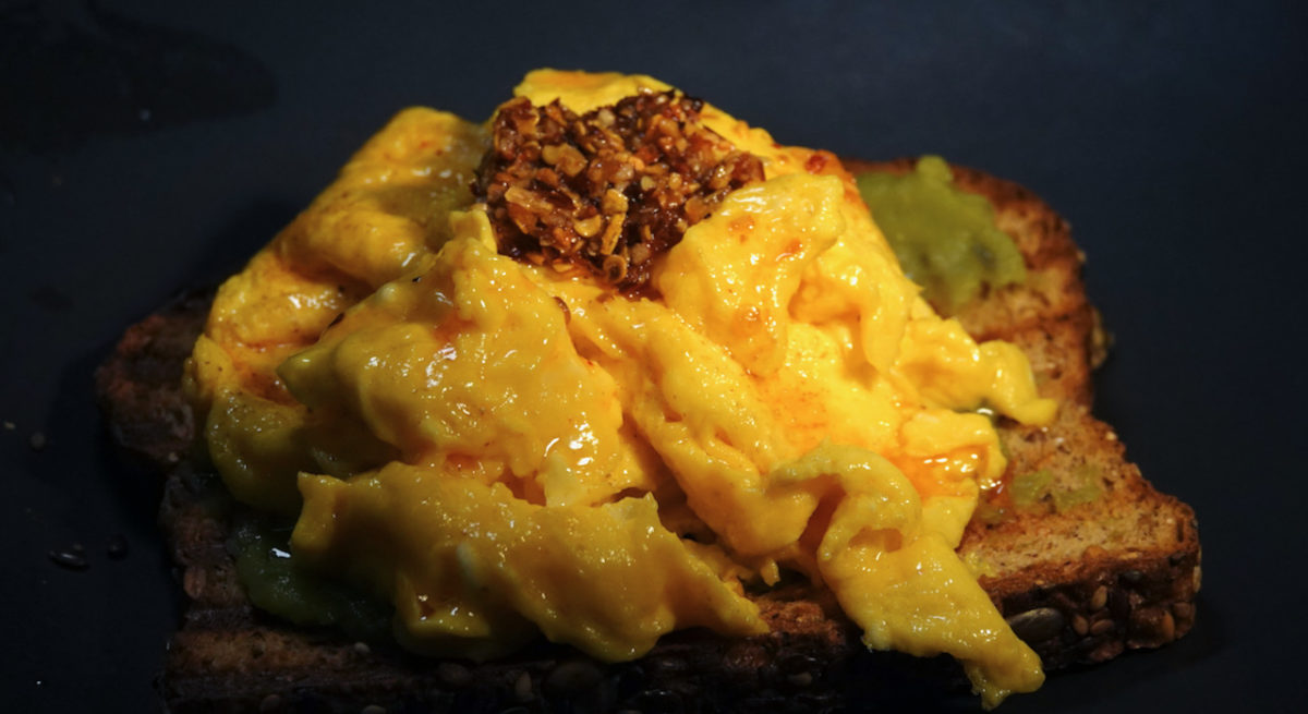 Jun 6: Ramen with Butter Soy; Scrambled Eggs on Toast with Guacamole