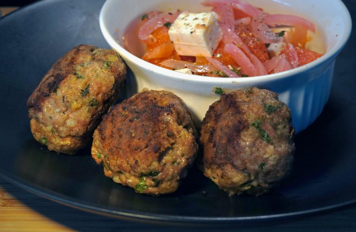 Jun 20: Bahn Mi & Fried Egg Rolls; Lamb Rissoles and Watermelon Salad